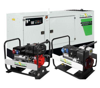 Stacionarūs ir nešiojami elektros generatoriai